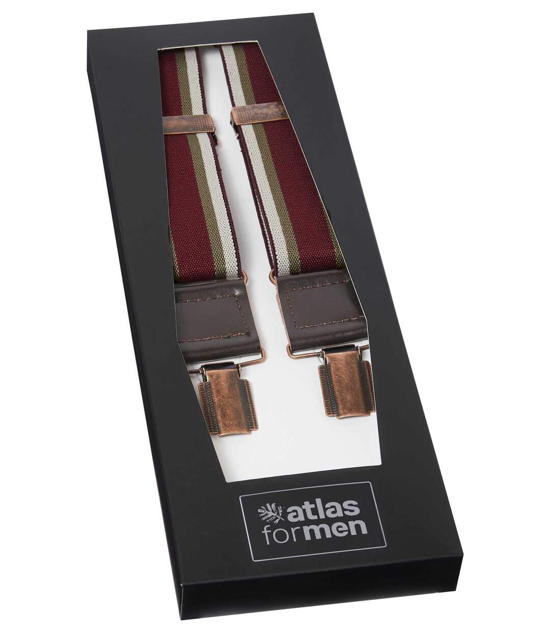 Men's Montana Braces Gift Set - Burgundy