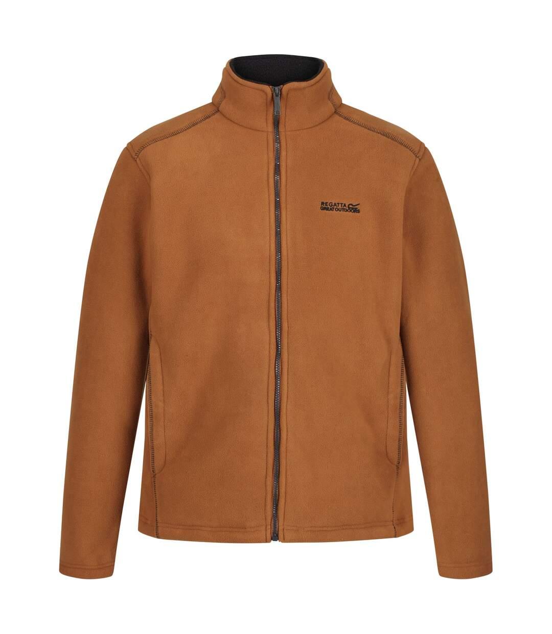 Regatta Mens Garrian Full Zip Jacket (Tan/Black) - UTRG3647