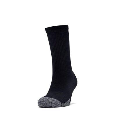 Under Armour Mens HeatGear Socks (Black/Steel Grey) - UTRW7753