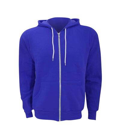 Canvas Unixex Zip-up Polycotton Fleece Hooded Sweatshirt / Hoodie (True Royal) - UTBC1337