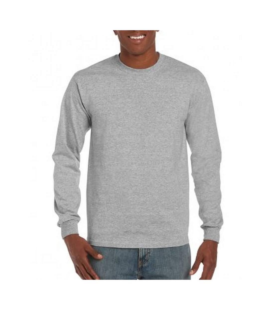 Gildan Mens Hammer Heavyweight Long Sleeve T-Shirt (Sport Grey) - UTPC3068