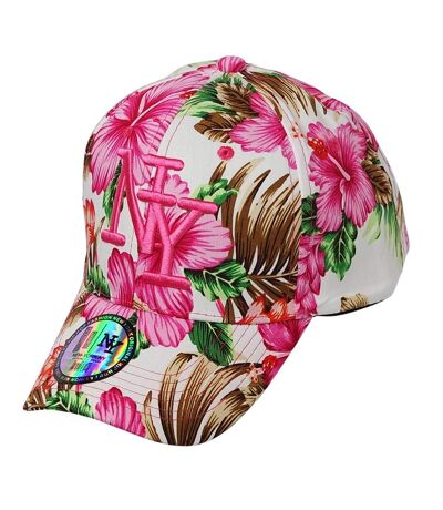 Casquette NY fleurie