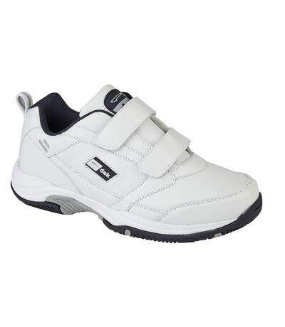 Dek Mens Ohio Leather Trainers (White) - UTDF1702