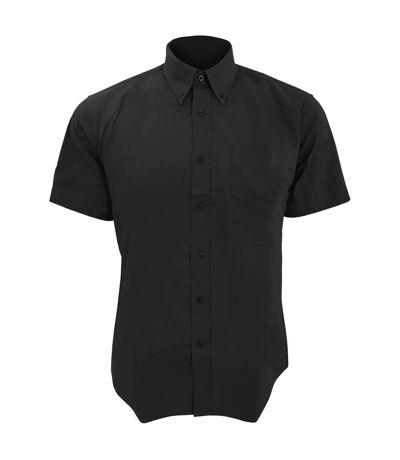 SOLS Mens Brooklyn Short Sleeve Twill Work Shirt (Black) - UTPC395
