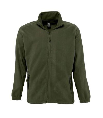 SOLS Mens North Full Zip Outdoor Fleece Jacket (Dark Chocolate) - UTPC343