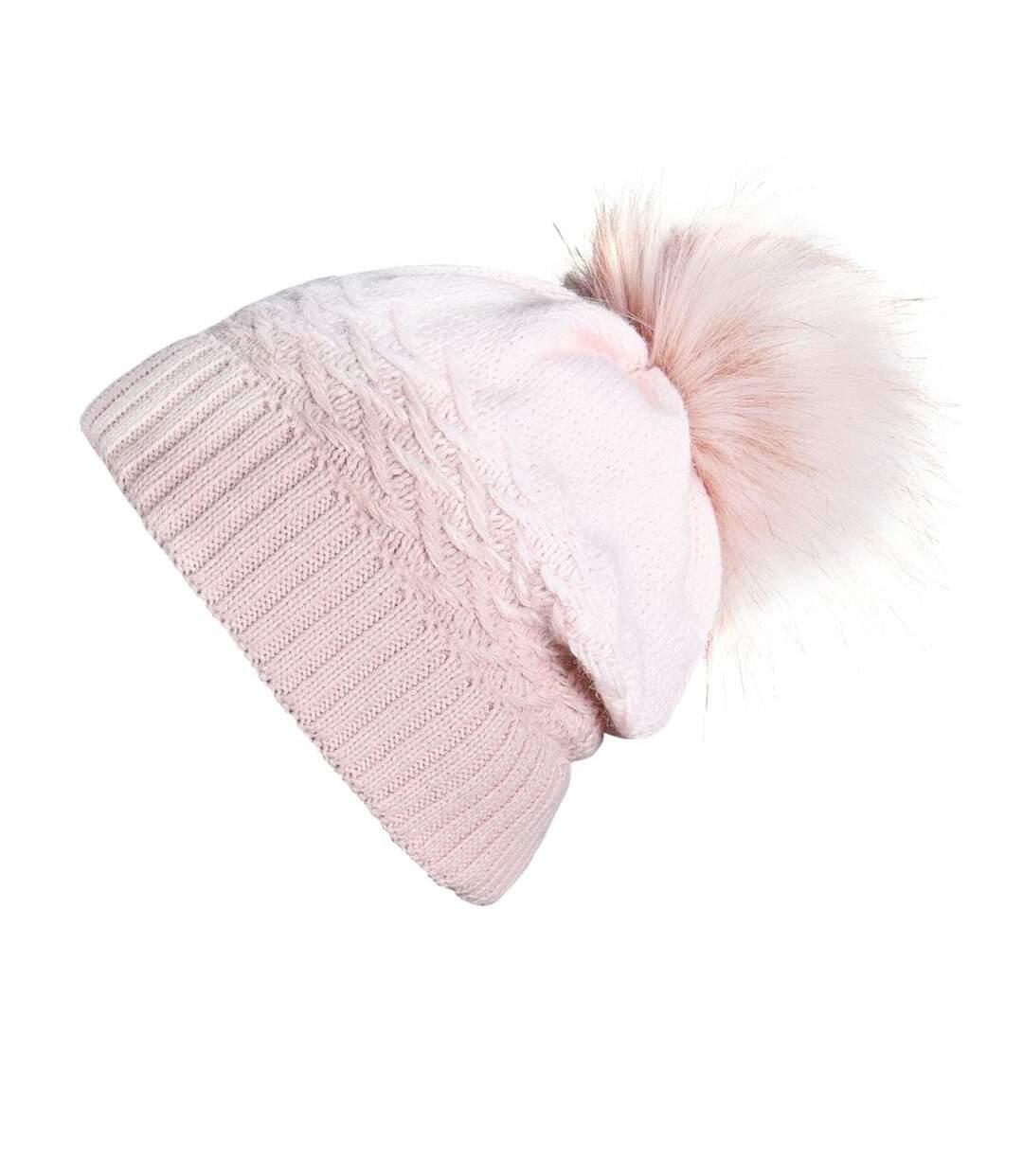 Snood et bonnet Optima - Couleur - Rose - Fabriqué en europe