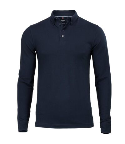 Nimbus Mens Carlington Deluxe Long Sleeve Polo Shirt (Navy) - UTRW5653