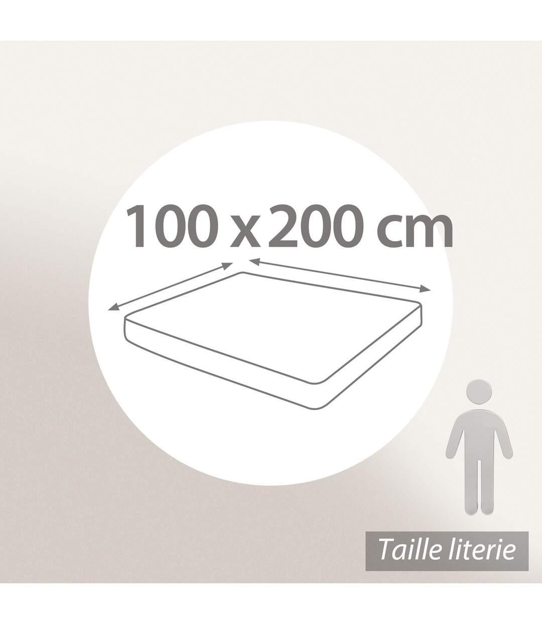 Protège matelas 100x200 cm ACHUA Molleton 100% coton 400 g/m2 bonnet 50cm