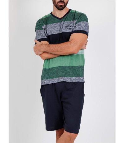 Pyjama short t-shirt Scratch Antonio Miro vert Admas