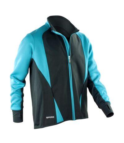 Spiro Mens Freedom Softshell Sports/Training Jacket (Aqua/ Black) - UTRW2857