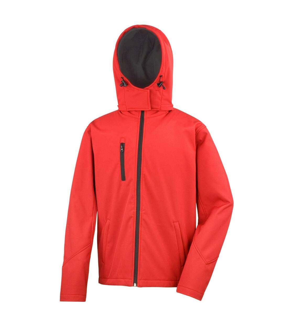 Result Core Mens Lite Hooded Softshell Jacket (Red/Black) - UTBC3253