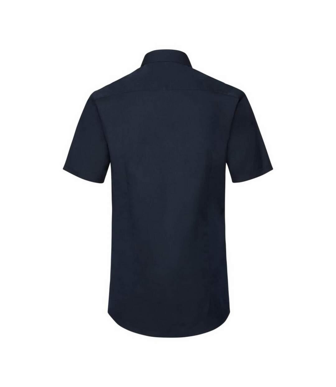 Russell Mens Short Sleeve Stretch Moisture Management Work Shirt (Bright Navy) - UTBC2739