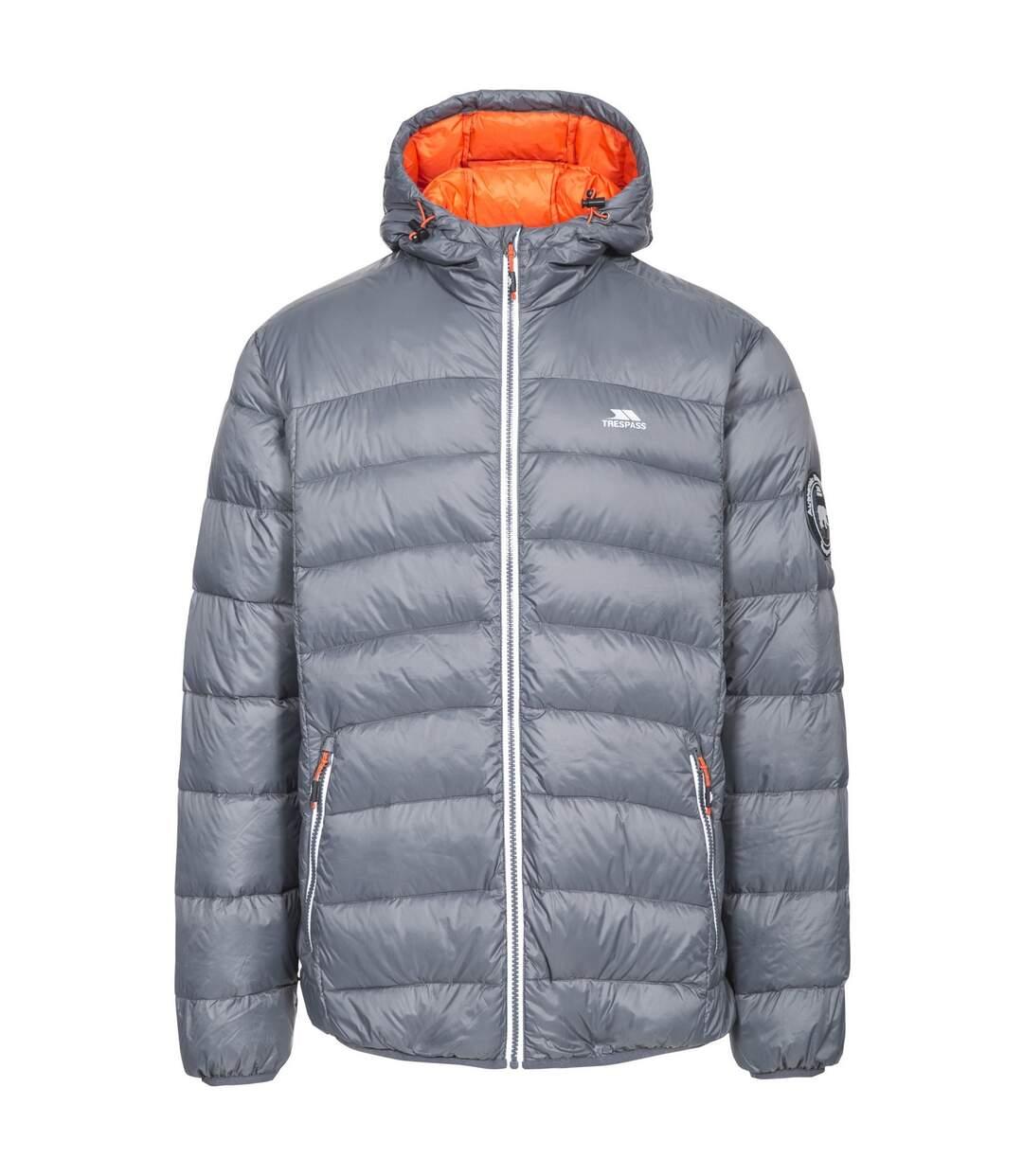 Trespass Mens Whitman Packaway Down Jacket (Carbon/Hot Orange) - UTTP3569