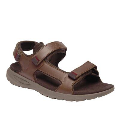 Regatta Mens Marine Leather Lightweight Sandals (Mustang) - UTRG5114