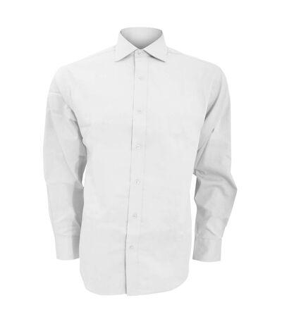 Kustom Kit Mens Superior Oxford Long Sleeved Shirt (White) - UTBC599