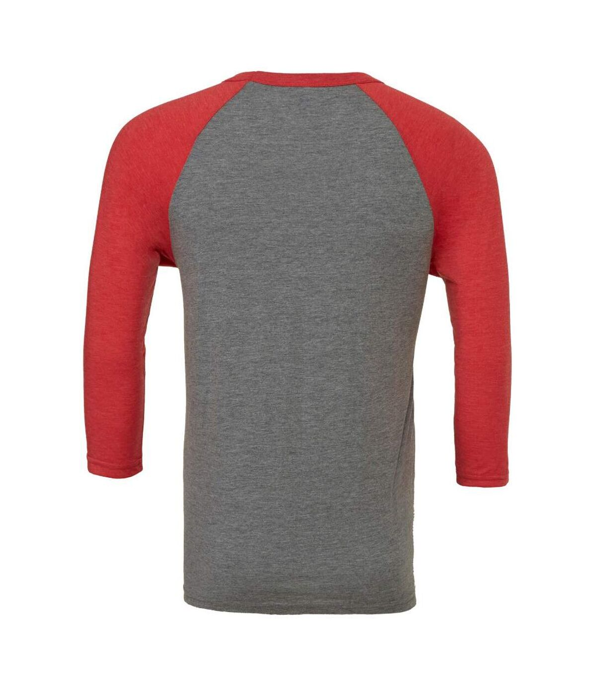 Canvas Mens 3/4 Sleeve Baseball T-Shirt (White/Asphalt) - UTBC1332