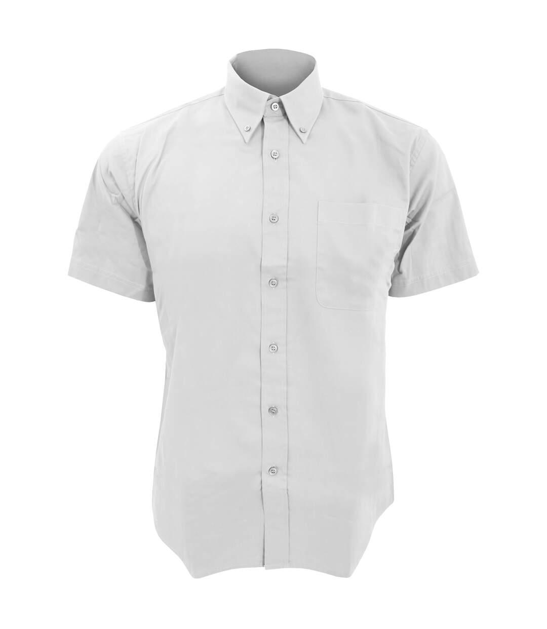 SOLS Mens Brooklyn Short Sleeve Twill Work Shirt (White) - UTPC395