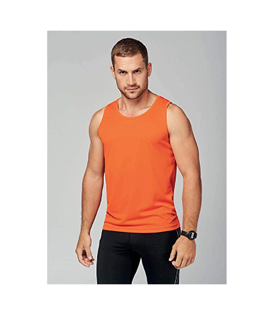Kariban Proact Mens Sleeveless Sports Training Vest (Orange) - UTRW2719