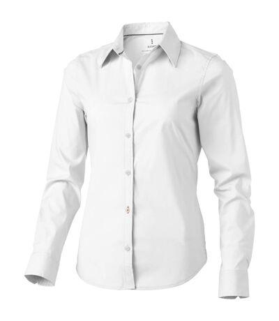 Elevate Hamilton Long Sleeve Ladies Shirt (White) - UTPF1838