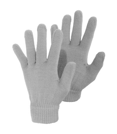 Ladies/Womens Plain Winter Magic Gloves (Grey) - UTGL310