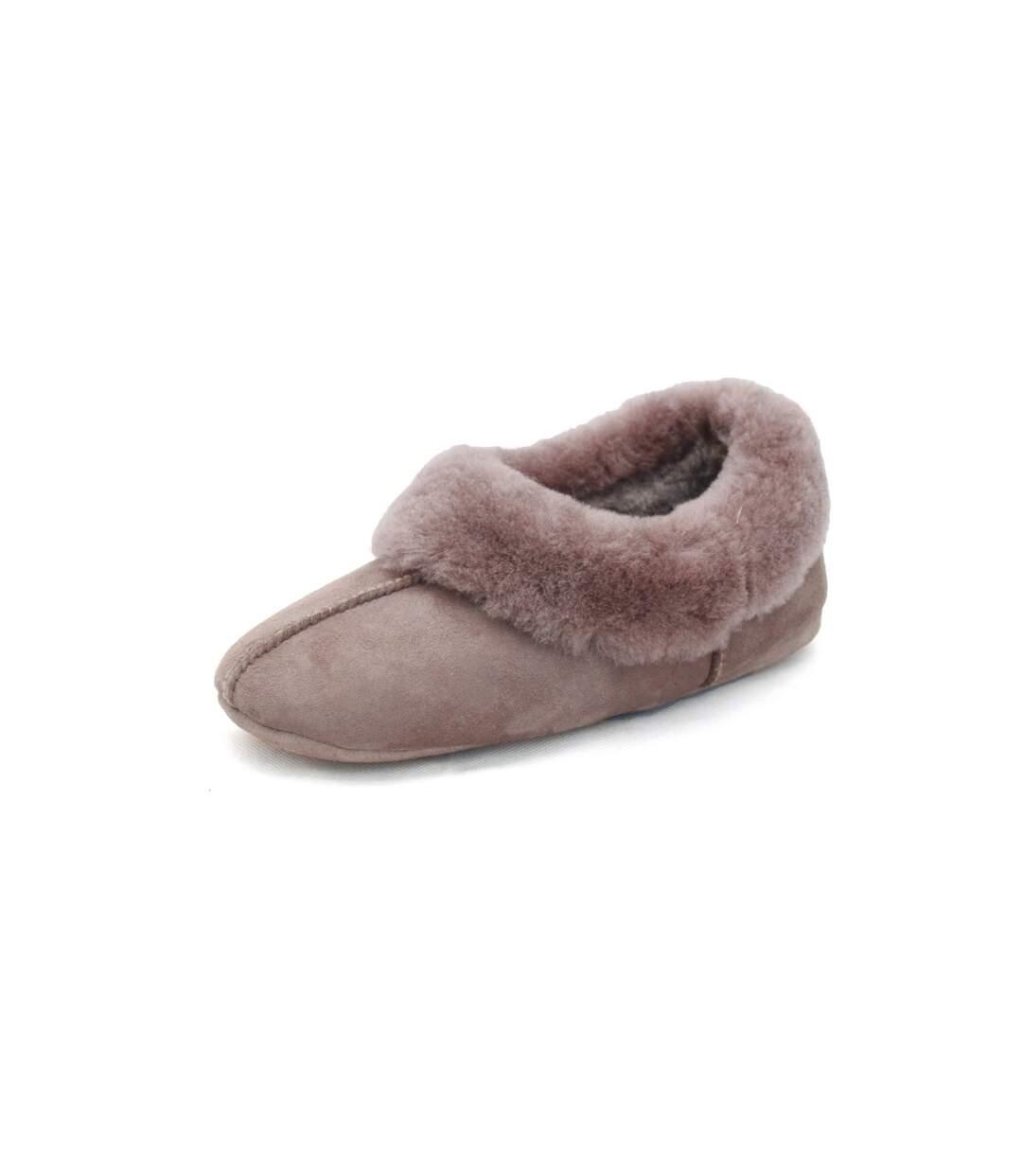 Grande Vente Eastern Counties Leather Chaussons En Peau De Mouton Femme Mink UTEL159 dsf.d455nksdKLFHG