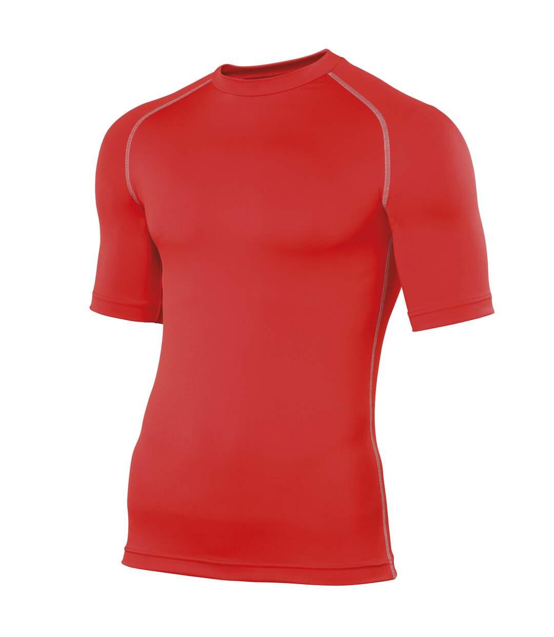 Rhino Mens Sports Base Layer Short Sleeve T-Shirt (Red) - UTRW1277