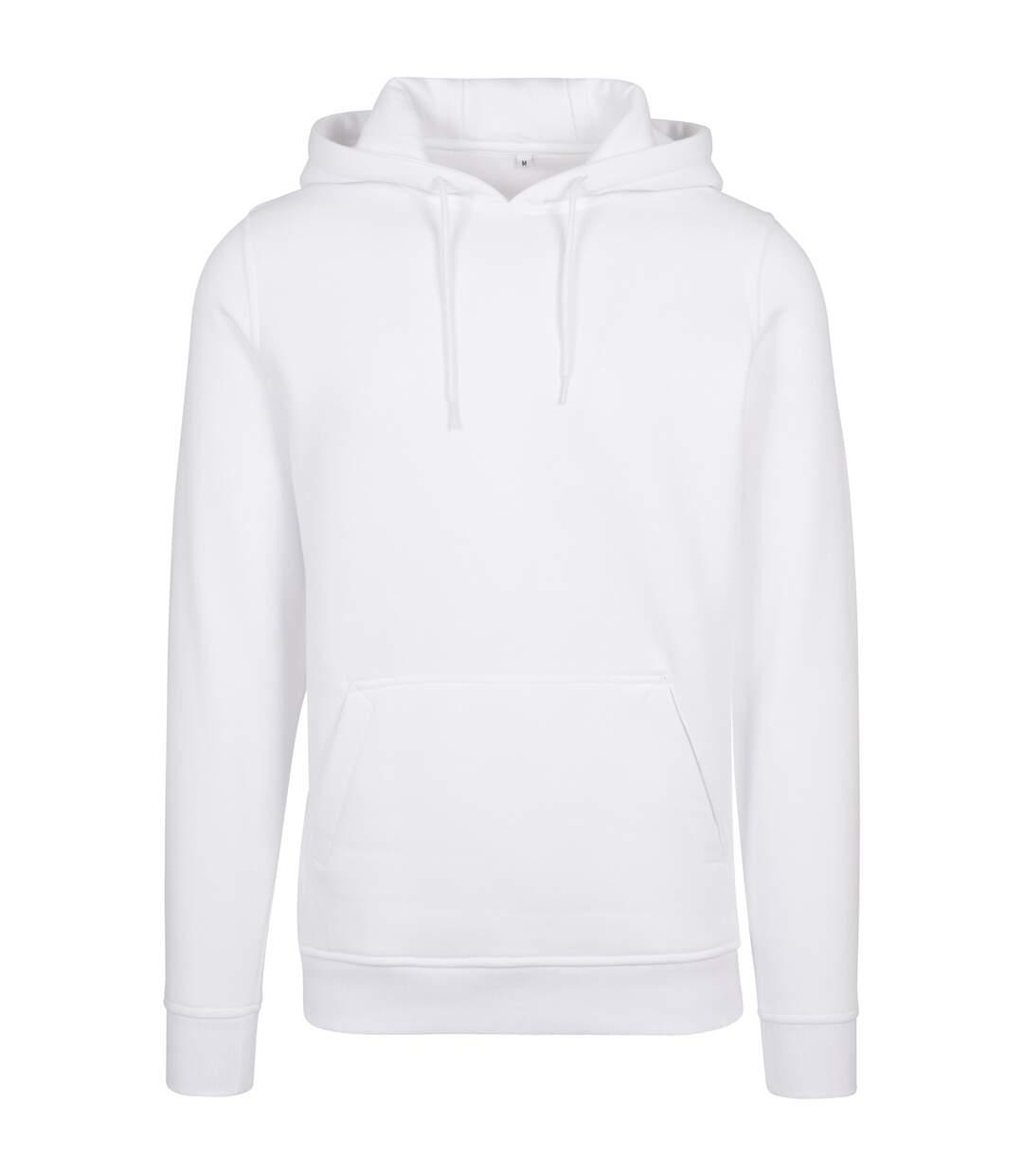 Build Your Brand Mens Heavy Pullover Hoodie (Black) - UTRW5681