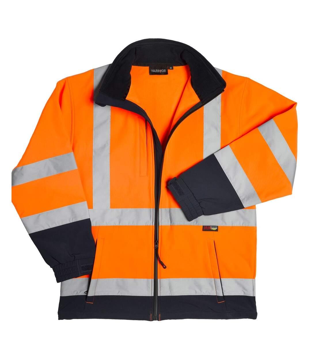 Warrior Mens Iowa Hi-Vis Soft Shell Jacket (Orange/Navy) - UTPC3500