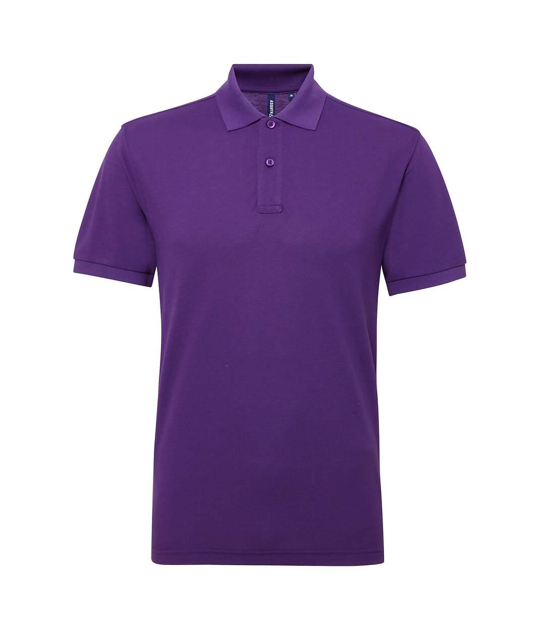 Asquith & Fox Mens Short Sleeve Performance Blend Polo Shirt (Royal) - UTRW5350