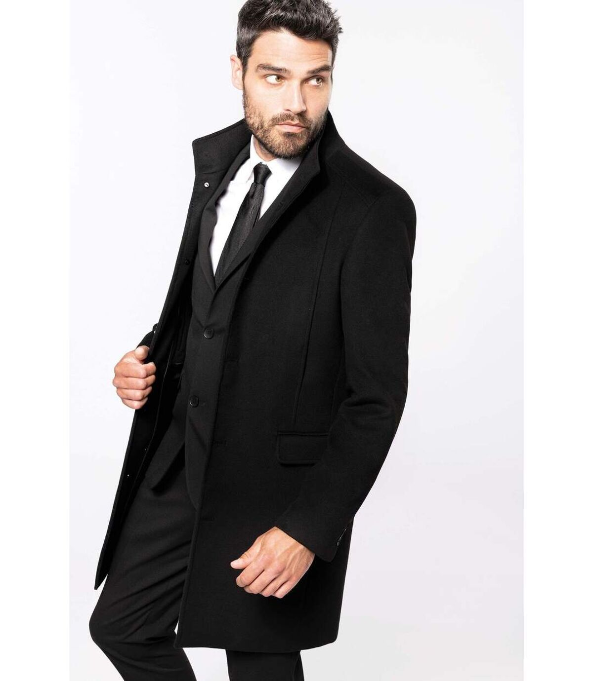 Manteau business premium homme - K6140 - noir
