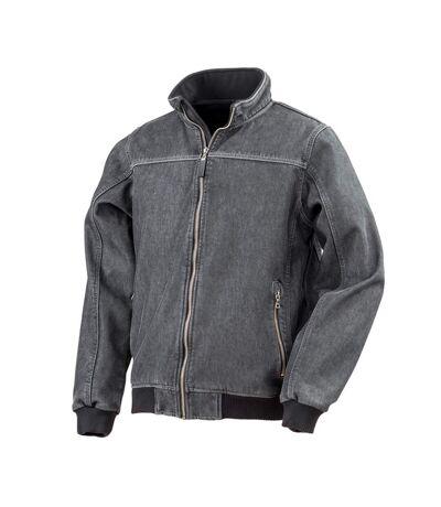 Result - Veste en jean délavé - Homme (Noir) - UTPC2867