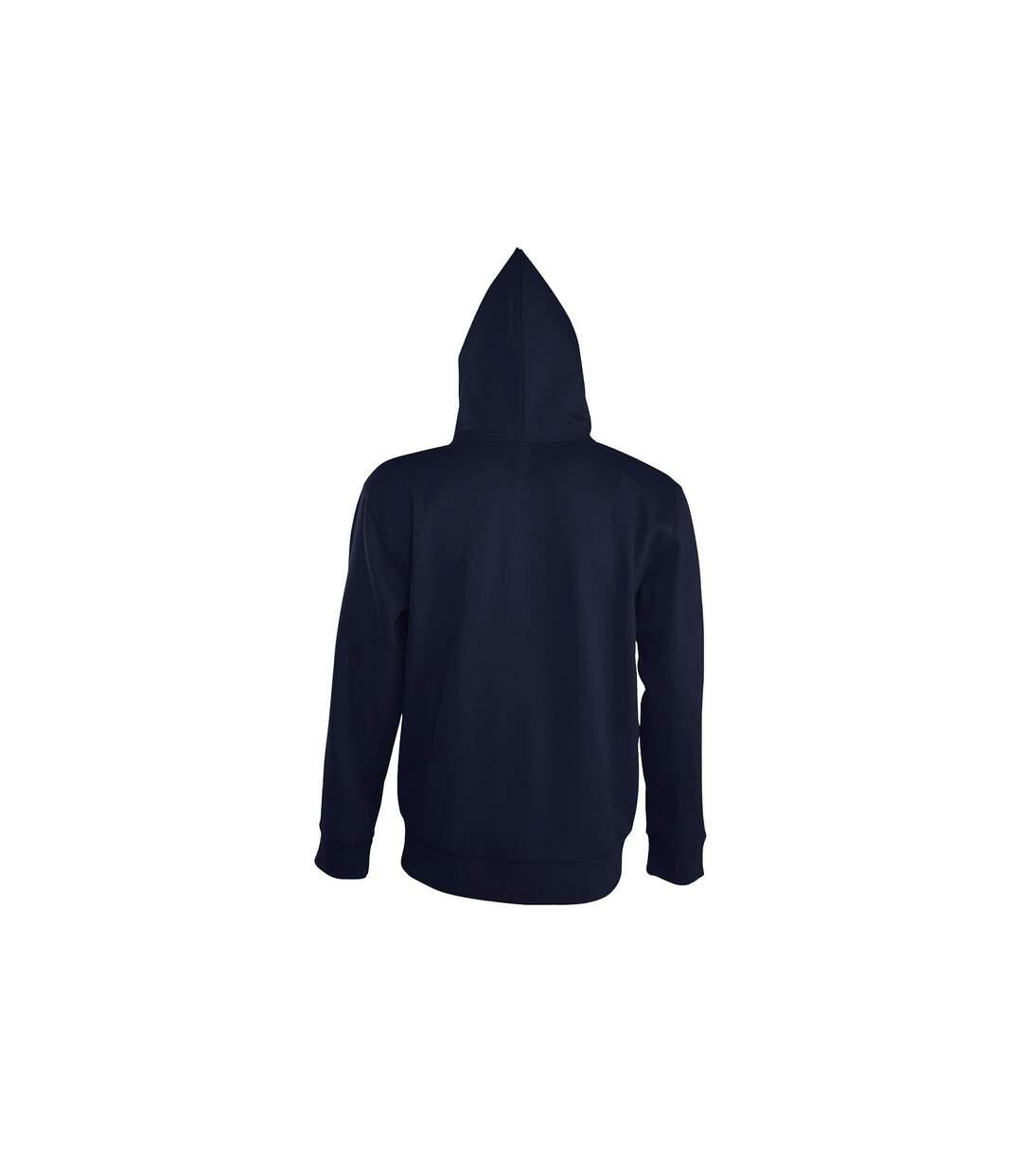 SOLS Mens Seven Full Zip Hooded Sweatshirt / Hoodie (French Navy) - UTPC340