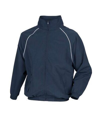 Tombo Mens Teamsport Start Line Sports Training Track Jacket (Navy/ White piping) - UTRW2875