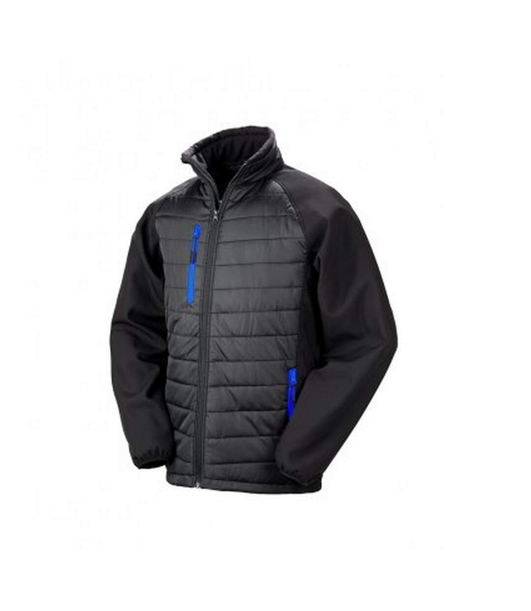 Result Mens Black Compass Padded Soft Shell Jacket (Black/Royal Blue) - UTPC3326