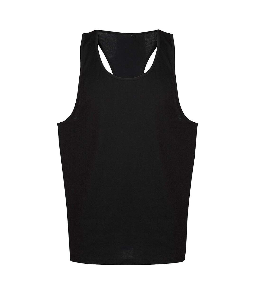 Tanx Mens Vest Sleeveless Vest Top / Muscle Vest (Black) - UTRW2869