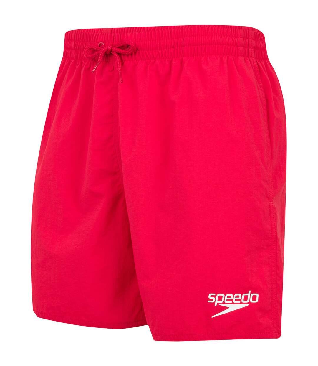 Speedo Mens Essentials 16 Swim Shorts (Red) - UTRD952