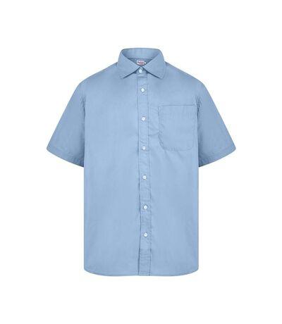 Absolute Apparel Mens Short Sleeved Classic Poplin Shirt (Light Blue) - UTAB118
