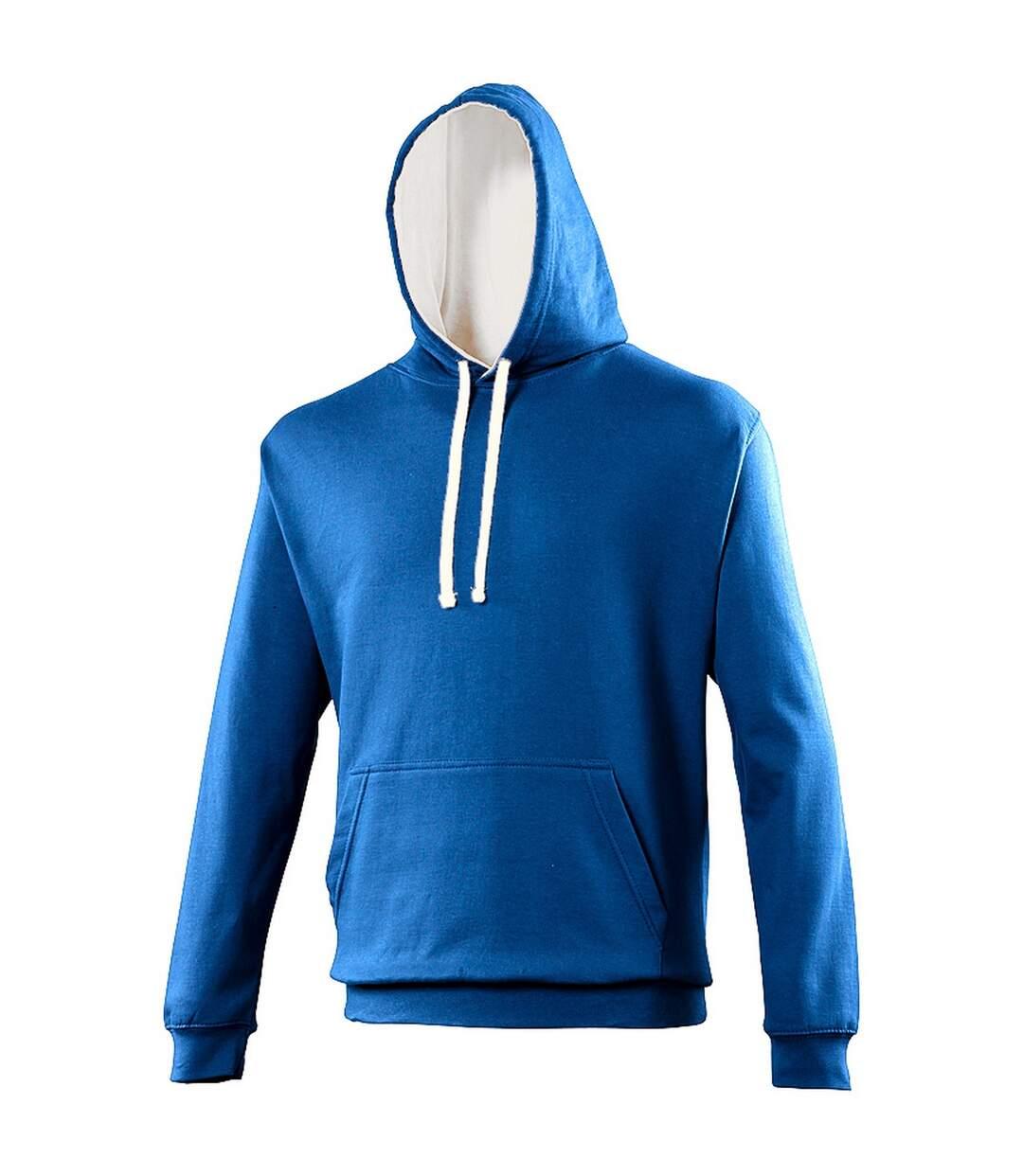 Awdis Varsity Hooded Sweatshirt / Hoodie (Jet Black / Fire Red) - UTRW165