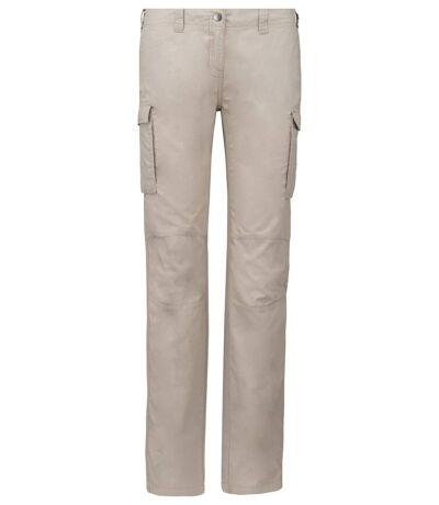 Pantalon léger multipoches pour femme - K746 - beige