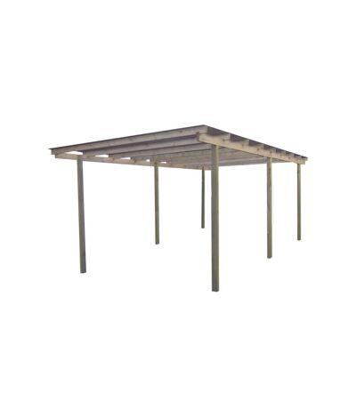 Carport en bois et panneaux ondulés 3x5 m Budget