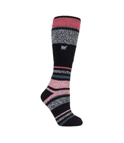 Womens Long Knee High Striped Ski Socks