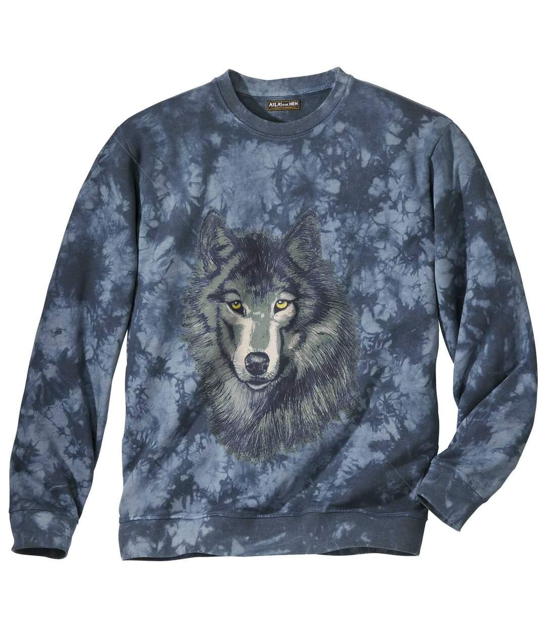 Farkas mintázatú molton pulóver