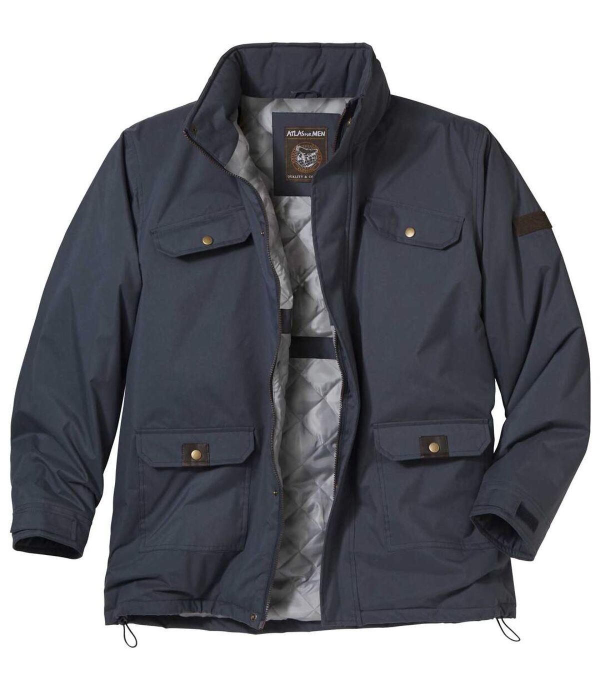 Men's Navy Multi-Pocket Parka Coat Atlas For Men