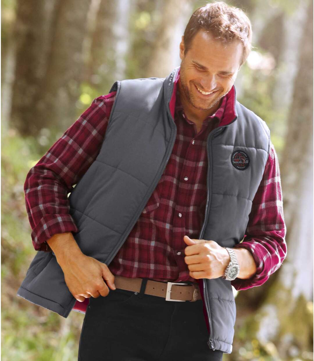 Men's Outdoor Sleeveless Padded Gilet - Grey