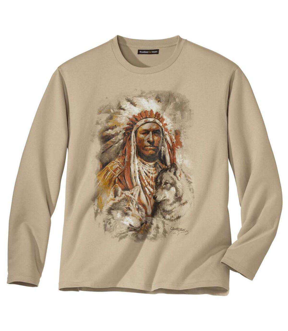 Tričko spotlačou indiánskeho náčelníka  Atlas For Men