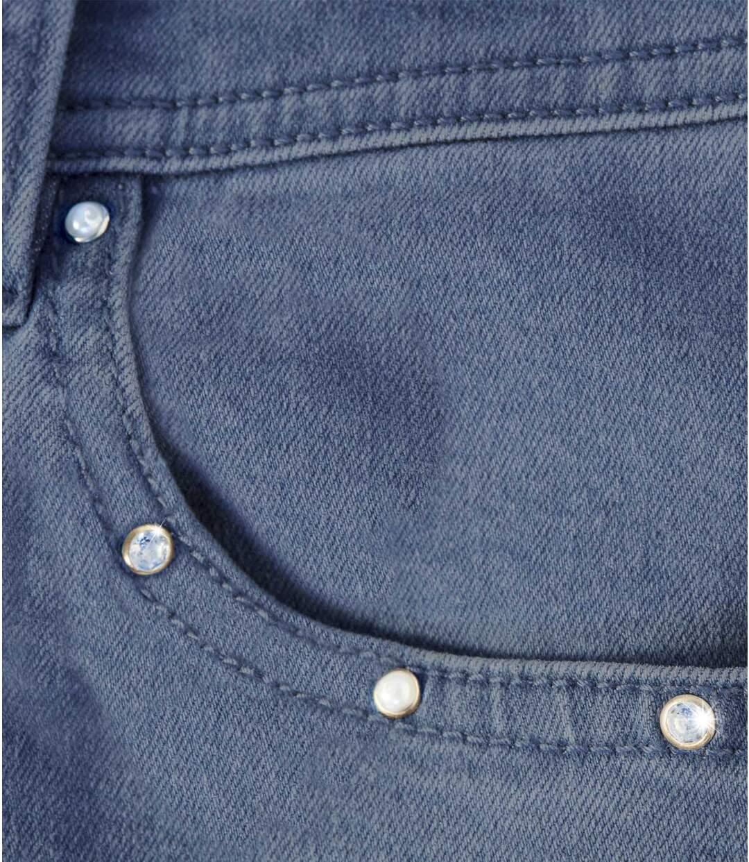 Women's Blue Cropped Jeans