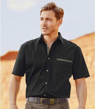 Černá košile s maskáčovými prvky
