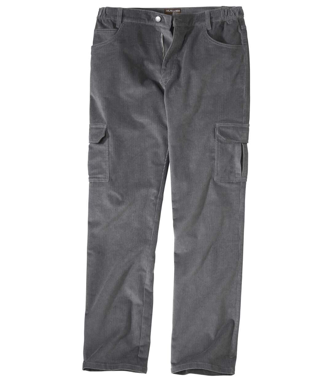 Sztruksowe spodnie bojówki ze stretchem