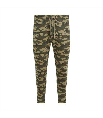 AWDis Hoods Mens Tapered Track Pants (Green Camo) - UTRW5366