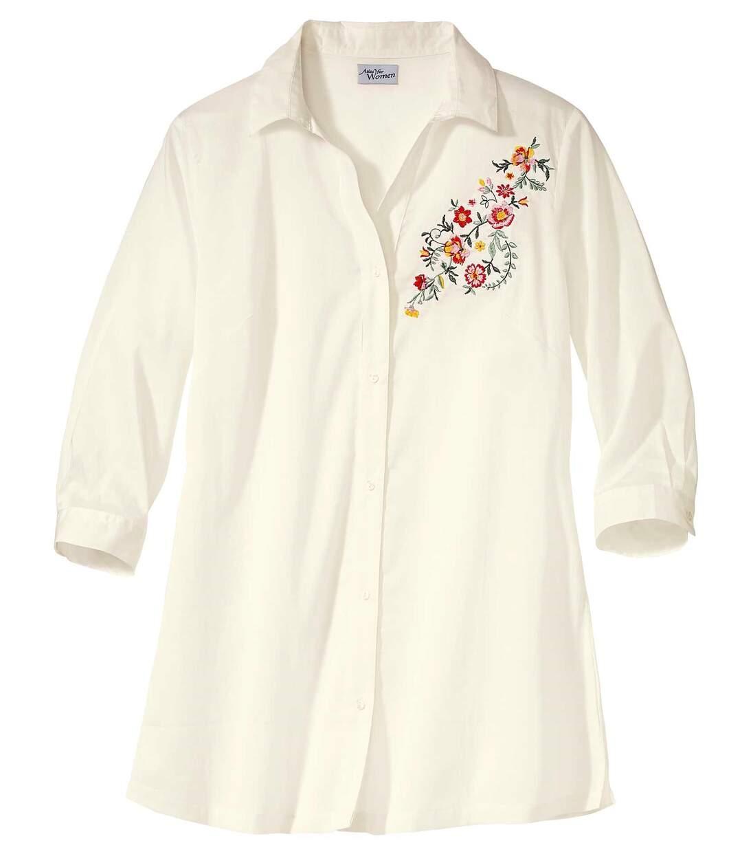 Блуза с Цветочной Вышивкой